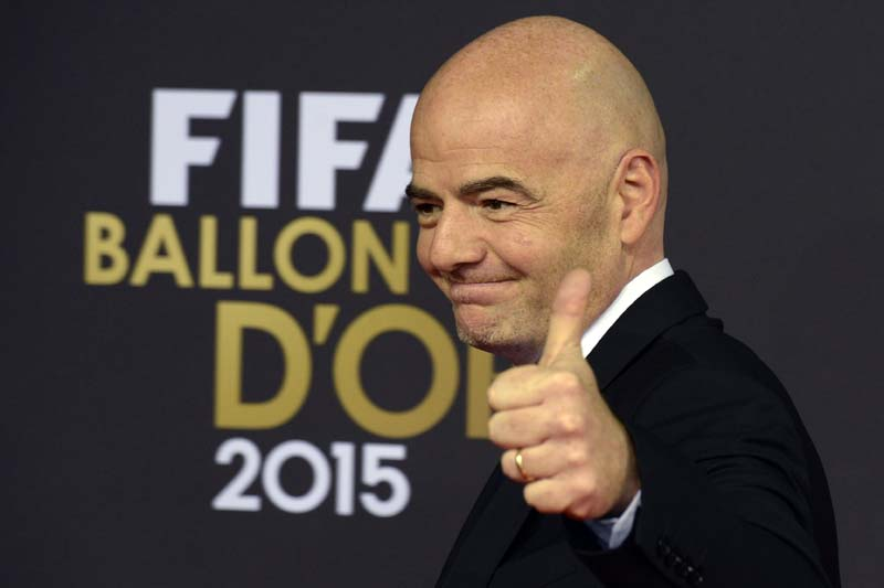 UEFA secretary general Gianni Infantino arrives on the red carpet prior to  the FIFA Ballon d'Or awarding ceremony at the Kongresshaus in Zurich, Switzerland, on Monday, January 11, 2016. Photo:Keystone via AP