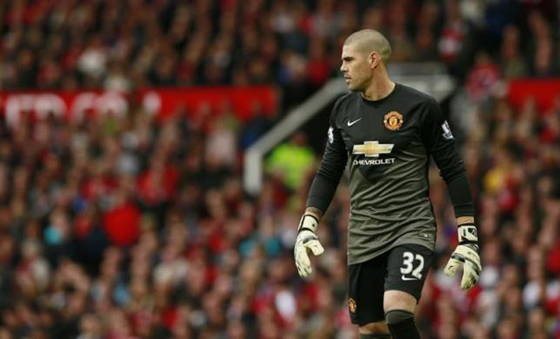 File photo of Manchester United goalkeeper Victor Valdes. Photo: Reuters