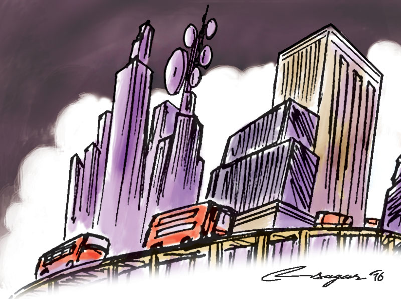 city of China. Illustration: Ratna Sagar Shrestha