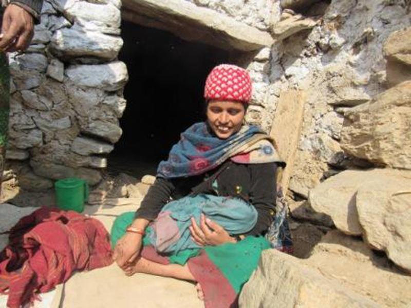 A new mother in Maila village of Humla district. Photo: Prakash Singh