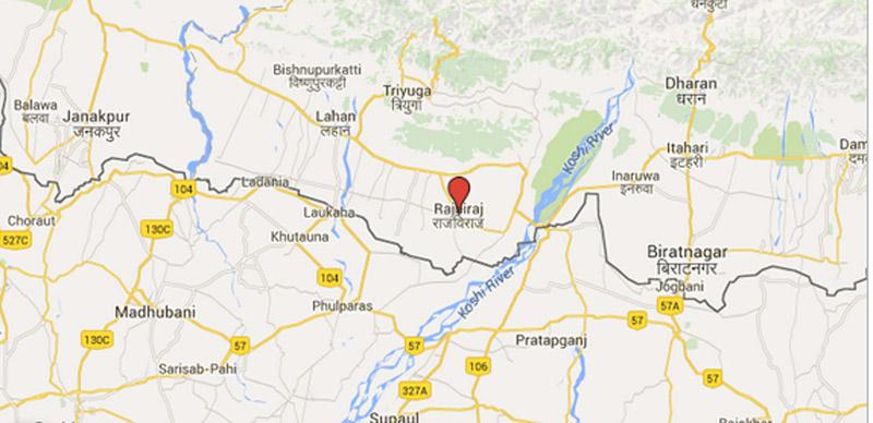 Rajbiraj of Saptari district headquarters. Source: Google Maps