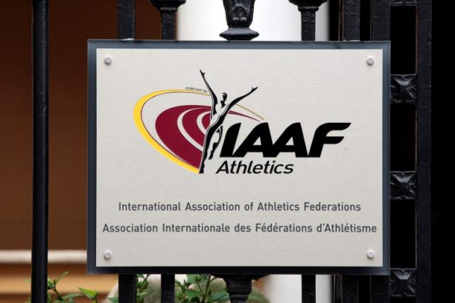A view shows a plaque at the IAAF (The International Association of Athletics Federations) headquarters in Monaco November 4, 2015. Photo: Reuters