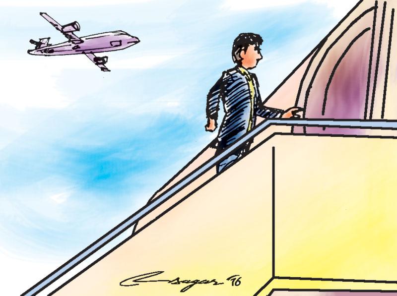 Climbimg Plane. Illustration: Ratna Sagar Shrestha