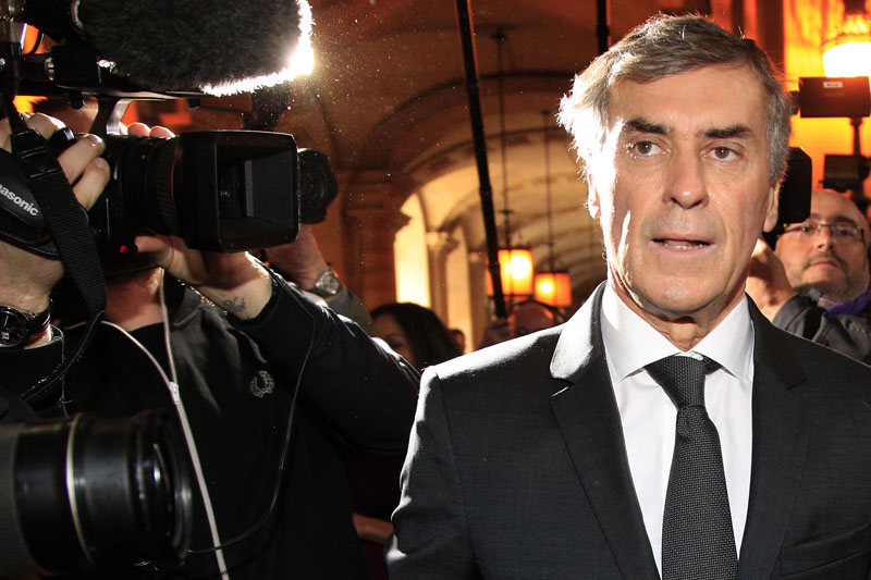 Former French budget minister Jerome Cahuzac arrives for his trial in Paris, on Monday, February 8, 2016. Photo: AP