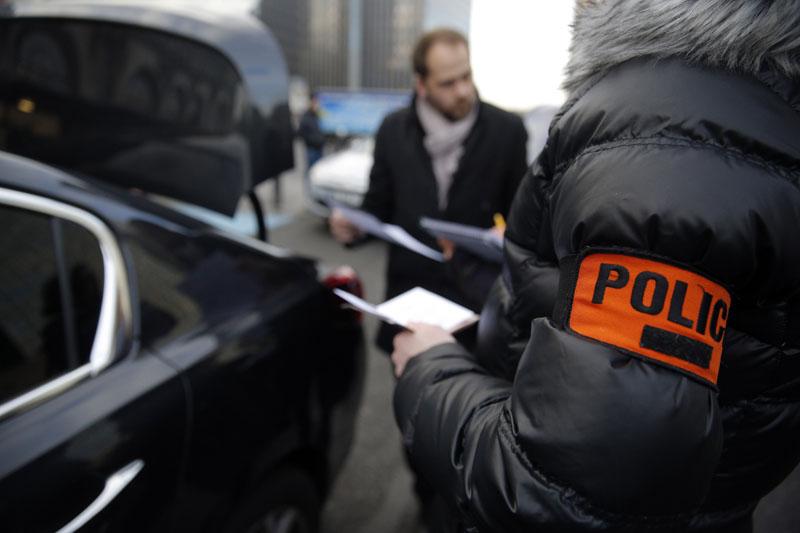 Plainclothes police officers check chauffeurs at the Paris' Gare de Lyon railway station, on Thursday, February 11, 2016. Photo:AP