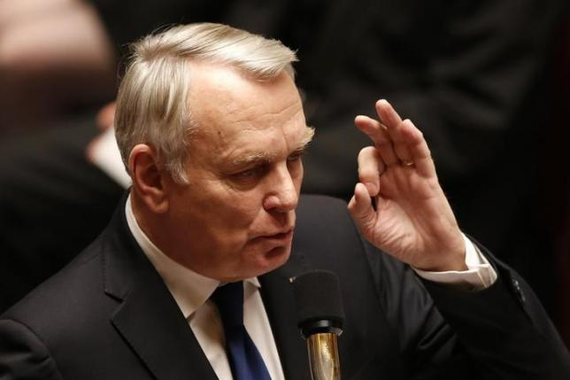 Newly-appointed Frencg Foreign Minister Jean-Marc Ayrault answers during the questions to the government session at the National Assembly in Paris, France, February 16, 2016.  REUTERS/Charles Platiau