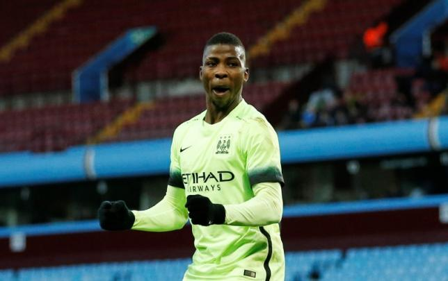 Football - Aston Villa v Manchester City - FA Cup Fourth Round - Villa Park - 30/1/16nKelechi Iheanacho celebrates scoring the third goal for Manchester City completing his hat trick. Action Images via Reuters / Andrew Boyers/Livepic