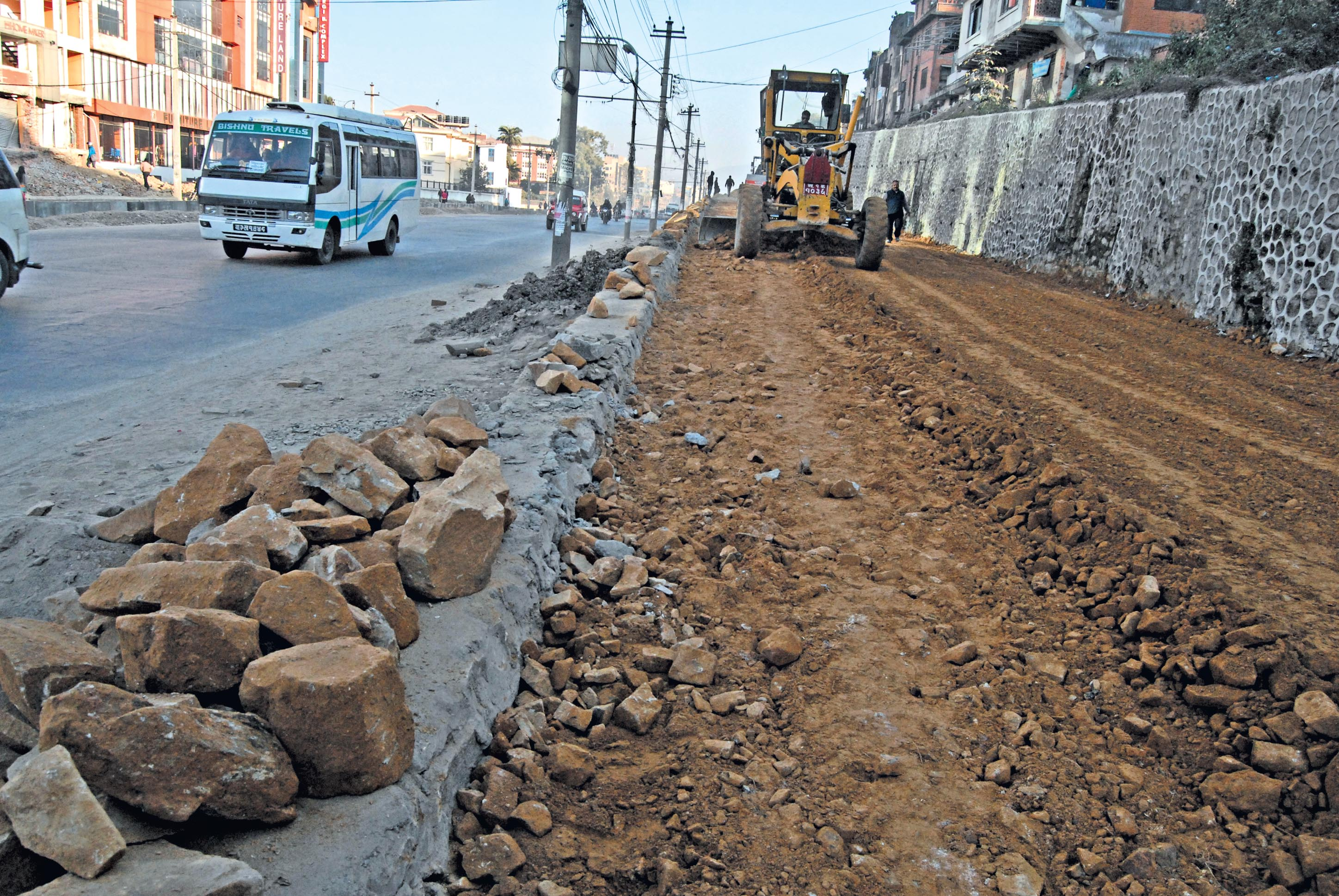 The Maitighar-Tinkune road expansion continues in this undated file photo: Photo: THT