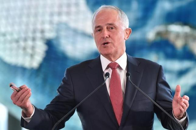 Australian Prime Minister Malcolm Turnbull delivers a speech at the National Museum of Emerging Science and Innovation, in Tokyo, Japan, December 18, 2015. REUTERS/Atsushi Tomura/Pool/Files
