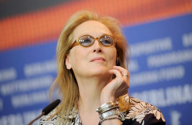 Actress Meryl Streep, President of the international jury for the 66th Berlinale International Film Festival, attends a news conference in Berlin February 11, 2016. The festival runs from February 11 until February 21 in the German capital.    REUTERS/Stefanie Loos