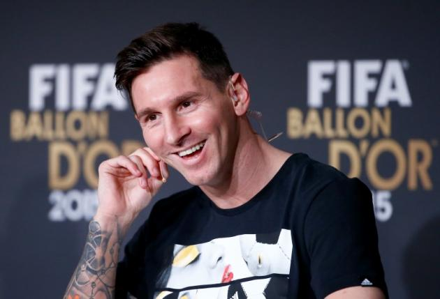FIFA 2015 World Player of the Year FC Barcelona's Lionel Messi of Argentina attends a news conference prior to the Ballon d'Or 2015 awards ceremony in Zurich, Switzerland, January 11, 2016. Photo: Reuters