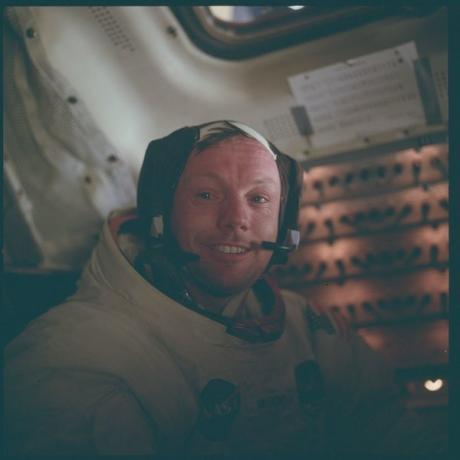 Astronaut Neil A. Armstrong, Apollo 11 commander, is pictured inside the Lunar Module (LM) while the LM rested on the lunar surface during the Apollo 11 mission in this July 20, 1969. REUTERS/NASA/Handout via Reuters