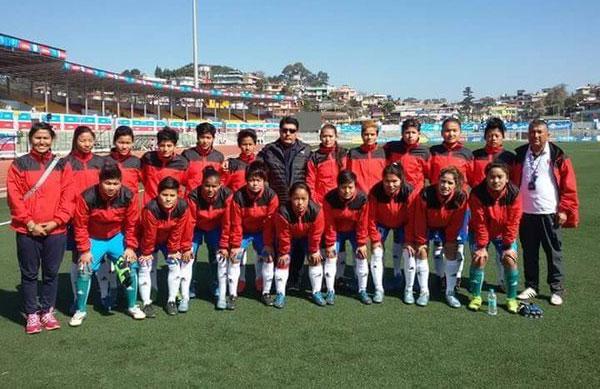 Nepal's women football team. Photo: ANFA