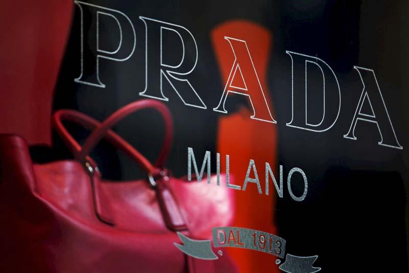 File photo of a handbag behind a display window at a Prada store in Hong Kong
