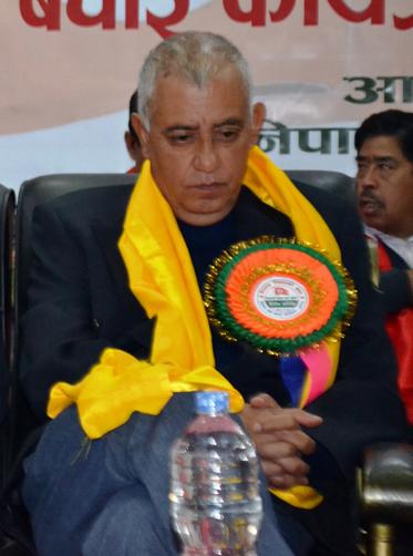 Nepali Congress leader Sashanka Koirala at a function in Kathmandu, on Monday, February 22, 2016. Photo: RSS