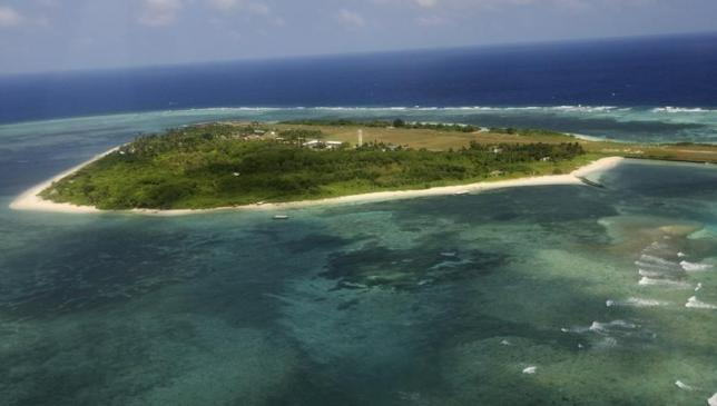 An aerial view shows the Pagasa (Hope) Island, part of the disputed Spratly group of islands, in the South China Sea located off the coast of western Philippines on July 20, 2011. Photo: Reuters/ File
