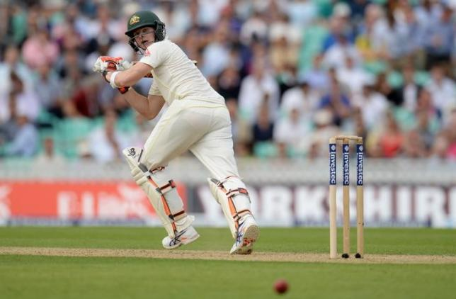 File photo of Australia's Steve Smith playing a shot. Reuters / Philip Brown