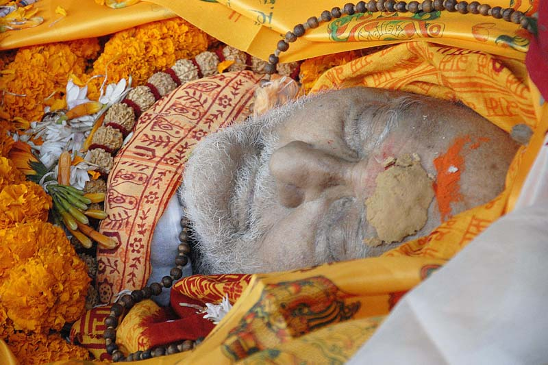 Body of Nepali Congress President and former Prime Minister Sushil Koirala in kept at Koirala residence at Maharajgunj, on Tuesday, February 9, 2016. Photo: Bal Krishna Thapa/ THT