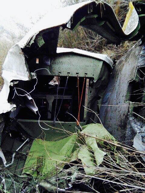 Wreckage of Tara Air's 9N-AHH aircraft that crashed in Soli Ghoptebhir of Dana VDC in Myagdi district. Photo: Nepal Army