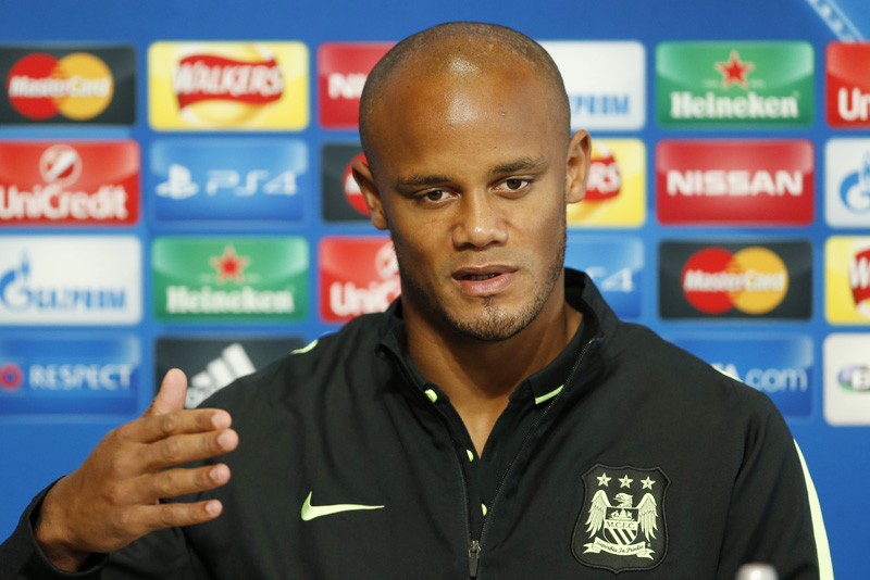 Manchester City's Vincent Kompany during the press conferencen at City Football Academy in Manchester on September 14, 2016. Photo: Reuters