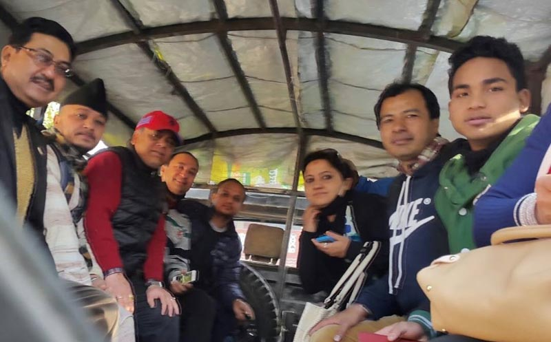 As many as 12 human rights activists get detained from Khula Manch of Kathmandu on Friday, February 19, 2016. Photo: AHRC