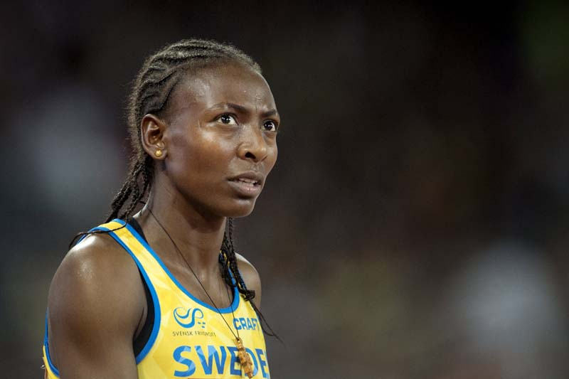 Sweden's 1,500 metres indoor world champion Abeba Aregawi is pictured in Beijing on August 25, 2015. Photo: TT News Agency via Reuters/ File
