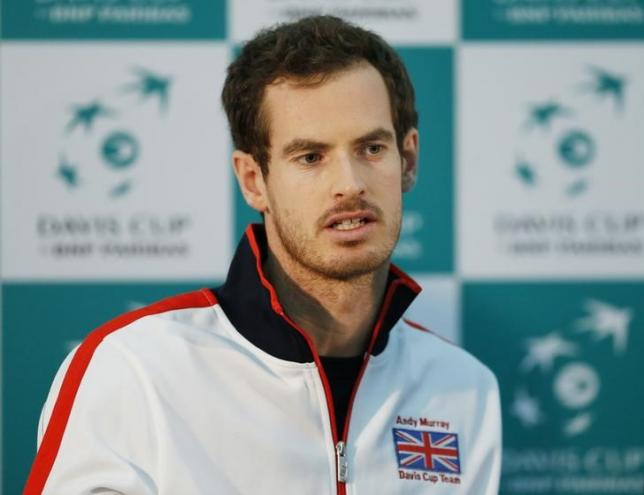 Tennis - Great Britain v Japan - Davis Cup World Group First Round - Barclaycard Arena, Birmingham - 2/3/16nGreat Britain's Andy Murray during a press conferencenAction Images via Reuters / Andrew BoyersnLivepic/Files