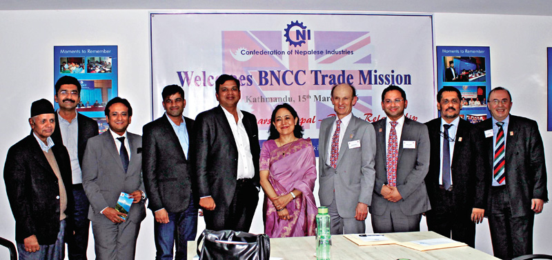BNCC delegation meeting with CNI members, in Kathmandu, on Tuesday. Photo: Courtesy CNI