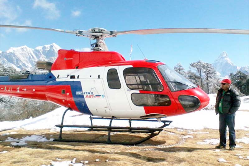 A Fishtail Air helicopter. Courtesy: Fishtail Air
