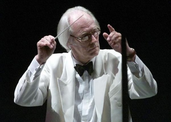 Sir George Martin conducts the Hollywood Bowl Orchestra with a program of music by  the Beatles June 25 at the Hollywood Bowl in Hollywood. Martin, record producer for the Beatles, featured over twenty of the Beatles legendary songs during the opening night concert.