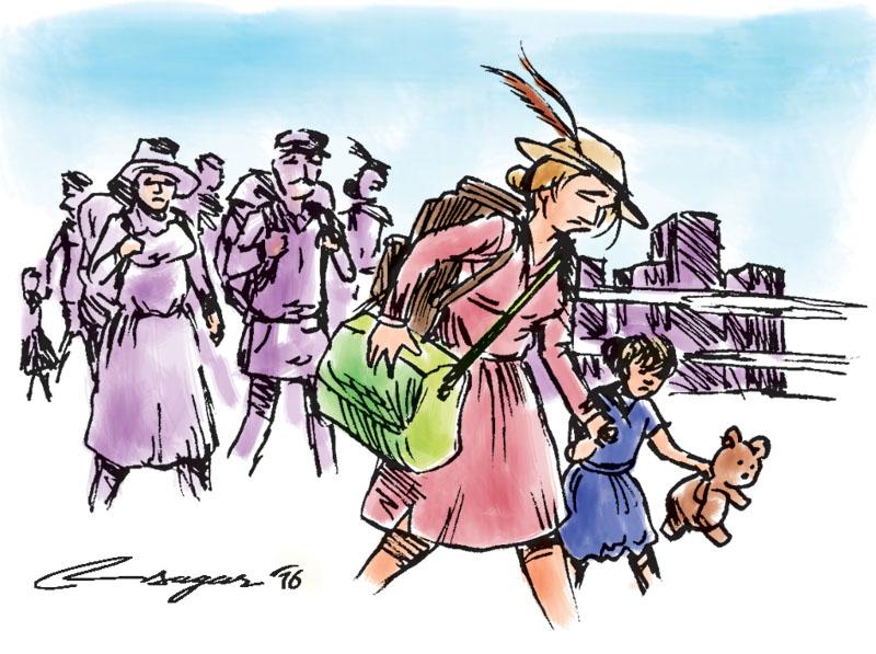 Immigration. Illustration: Ratna Sagar Shrestha