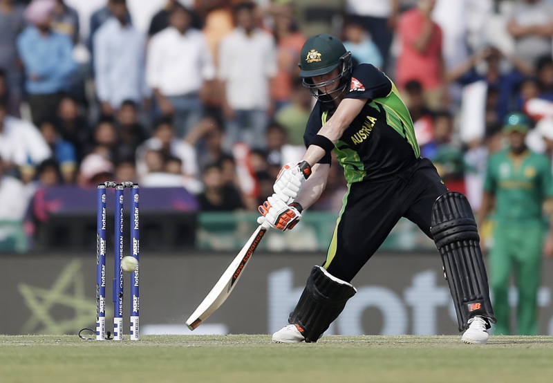 Australia's Steven Smith bats during their ICC World Twenty20 2016 cricket match against Pakistan in Mohali, India, Friday, March 25, 2016. Photo: AP