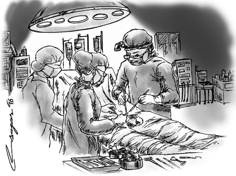 Organ transplantation. Illustration: Ratna Sagar Shrestha/THT