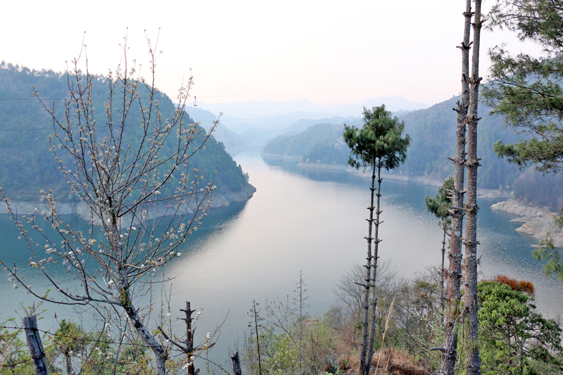 Water dam of Kulekhani Hydro Electricity Project in Kulekhani of Makawanpur district, on Wednesday, March 9, 2016. Photo: RSS