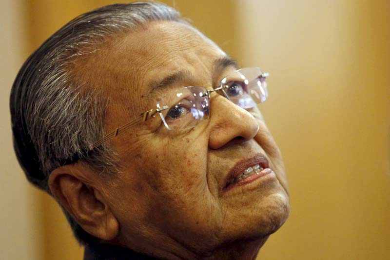 Malaysia's former Prime Minister Mahathir Mohamad takes part in a news conference in Putrajaya, Malaysia, on October 12, 2015. Photo: Reuters/ File