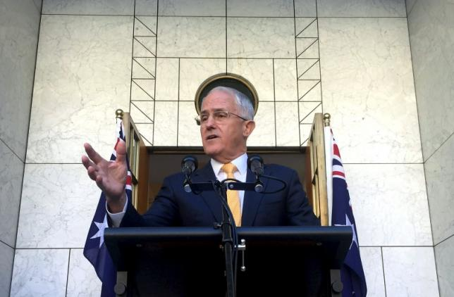 Australian Prime Minister Malcolm Turnbull speaks during a media conference at Parliament House in Canberra, Australia, March 21, 2016. REUTERS/Lukas Coch/AAP