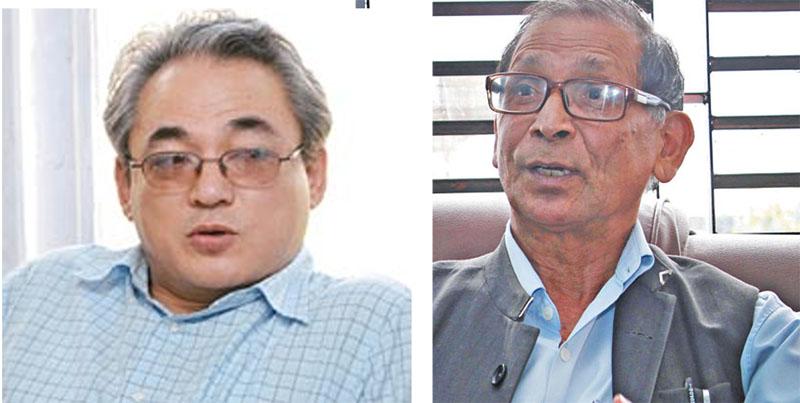 Maoist leaders, Ram Bahadur Thapa (left) and Mohan Baidya. Photos: THT/File
