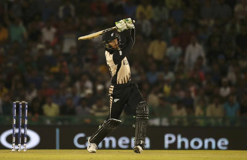 New Zealand's Martin Guptill plays a shot during World Twenty20 Cricket tournament in Mohali. Photo: Reuters