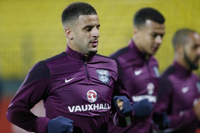England's Kyle Walker during training. Action Images via Reuters/Carl Recine/Livepic/Files
