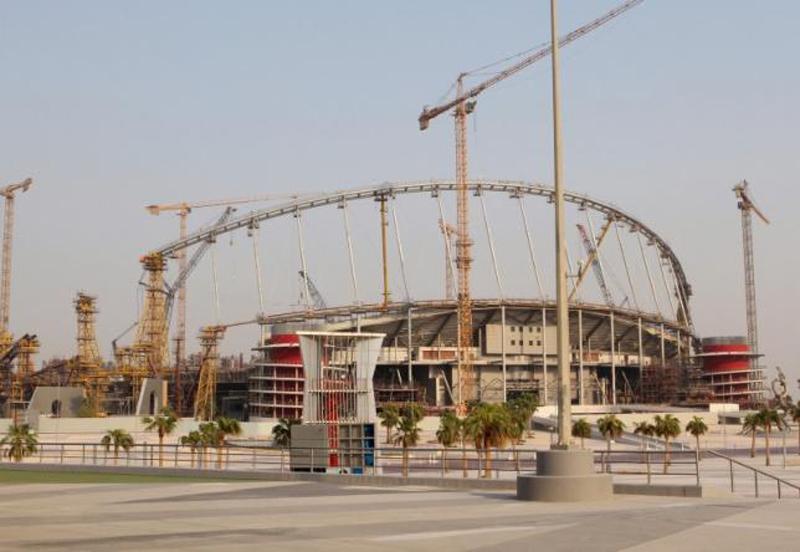 Construction work goes on at the Khalifa International Stadium in Doha, Qatar September 16, 2015. Photo: Reuters