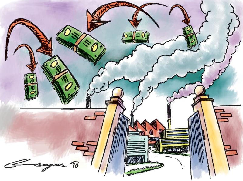 Remitts and factories. Illustration: Ratna Sagar Shrestha
