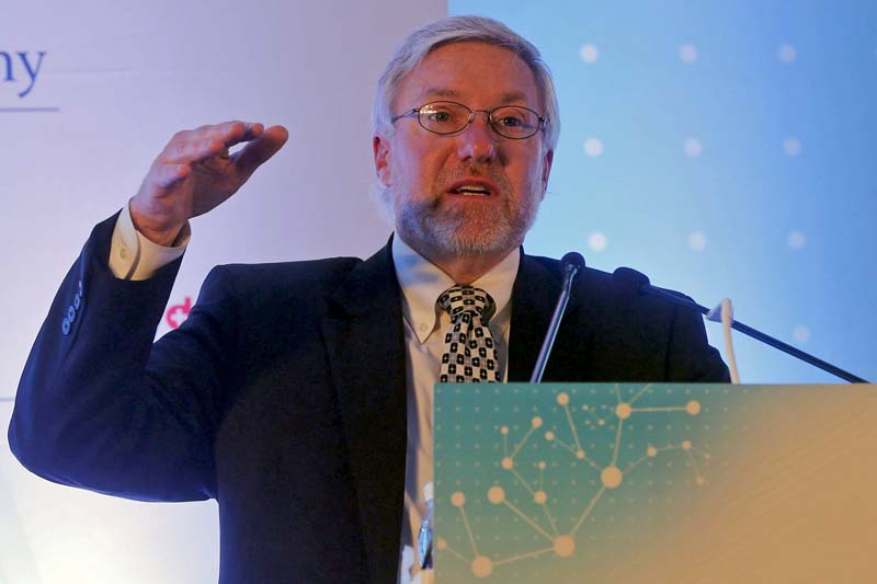 Russell Wesdyk, Director of Office of Surveillance, Office of Pharmaceutical Quality, Centre of Drug Evaluation and Research at USFDA (US Food and Drug Administration), speaks during the annual Indian Pharmaceutical Alliance (IPA) conference in Mumbai, India, on February 23, 2016. Photo: Reuters