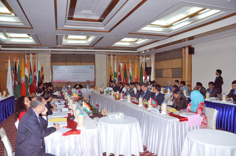 Delegates representing different countries of South Asian Association Regional Cooperation (SAARC) attending the SAARC foreign minister level meeting at Grand Hotel of Pokhara in Kaski district on Monday, March 14, 2016. Photo: Bharat Koirala