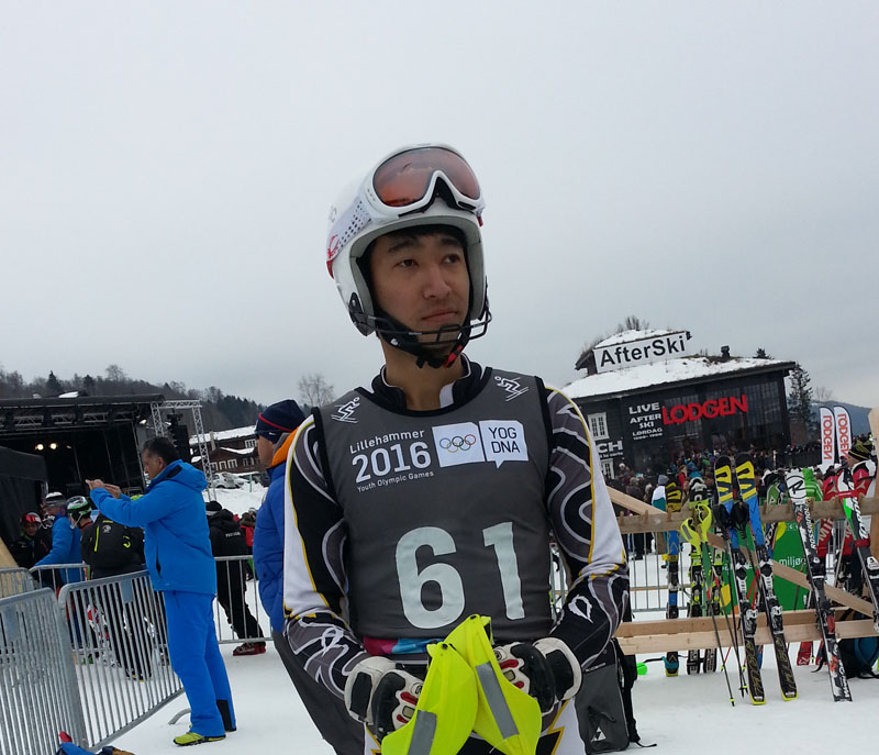 Shrestha in nLillehammer, Norway during Winter Youth Olympics.