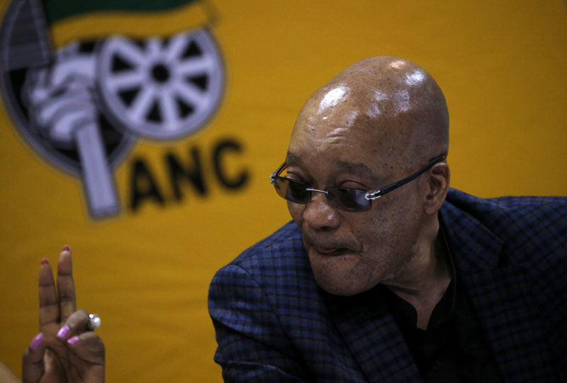 South Africa's President and ANC president Jacob Zuma attends the party's three-day National Executive Committee (NEC) meeting in Pretoria, in this March 18, 2016 file photo. Photo: Reuters