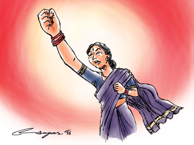 Women's Day. Illustration: Ratna Sagar Shrestha