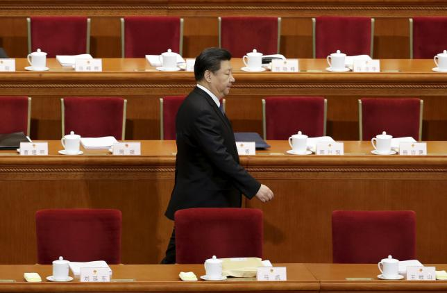 China's President Xi Jinping arrives for the opening session of the National People's Congress (NPC) in Beijing, China, March 5, 2016. REUTERS/Jason Lee