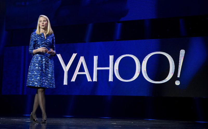 FILE - Yahoo president and CEO Marissa Mayer speaks during the International Consumer Electronics Show in Las Vegas, on January 7, 2014. Photo: AP Photo/Julie Jacobson