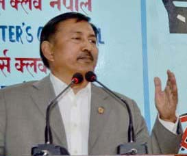 Bal Krishna Khand of Nepali Congress. Photo: Reporters Club