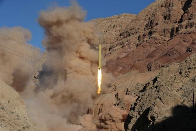 A ballistic missile is launched and tested in an undisclosed location, Iran, March 9, 2016. REUTERS/Mahmood Hosseini/TIMA